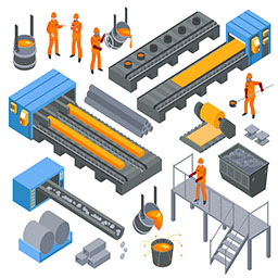 Steel Industry Isometric Set