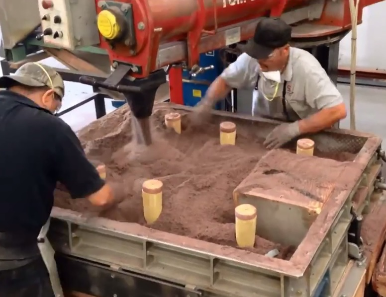 no-bake sand casting
